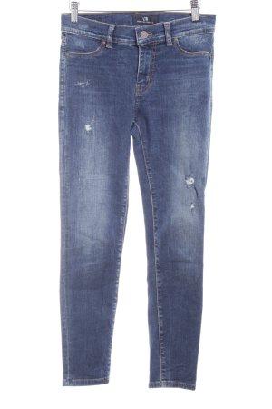 LTB Skinny Jeans blau Used-Optik