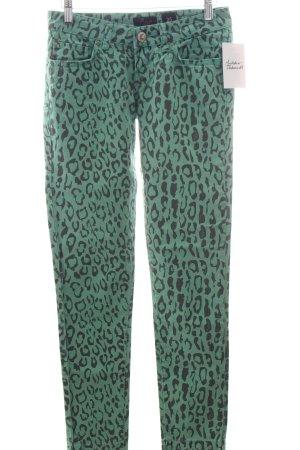LTB Skinny Jeans dunkelgrau-hellgrün Leomuster Street-Fashion-Look