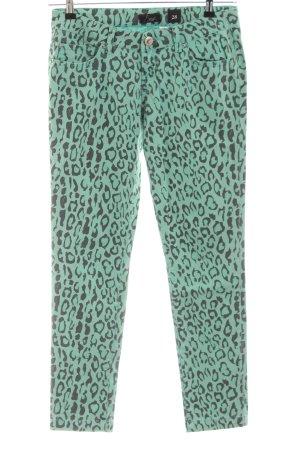 LTB Slim Jeans grün-schwarz Allover-Druck Casual-Look