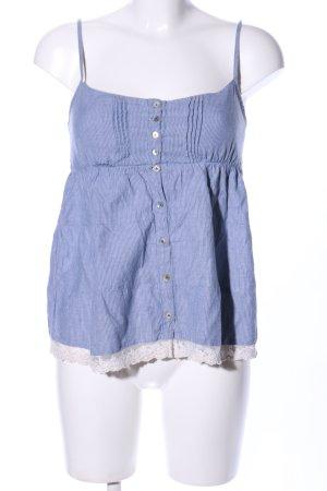 LTB Top con bretelline blu-bianco motivo a righe elegante
