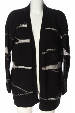 LTB Cardigan in maglia nero-bronzo motivo astratto stile casual