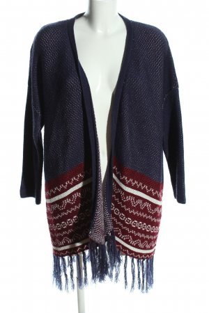 LTB Strickjacke grafisches Muster Casual-Look
