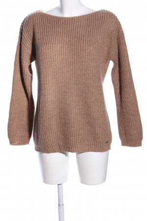 LTB Knitted Sweater bronze-colored cable stitch casual look