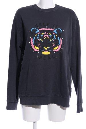 LTB Sweatshirt schwarz Motivdruck Casual-Look