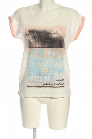LTB T-Shirt wollweiß-nude meliert Casual-Look