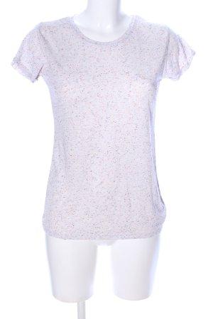 LTB T-Shirt hellgrau-pink meliert Casual-Look