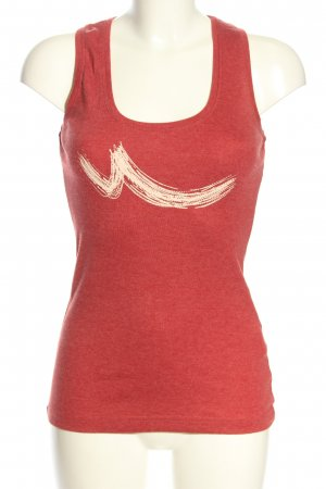 LTB Tanktop rood-room abstract patroon casual uitstraling