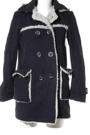 LTB Winter Coat dark blue-cream casual look