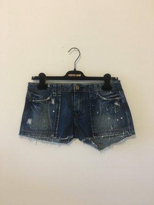 Ltc  Jeans Denim Sommer kurz Hose Shorts Hot Pants dunkelblau weiß