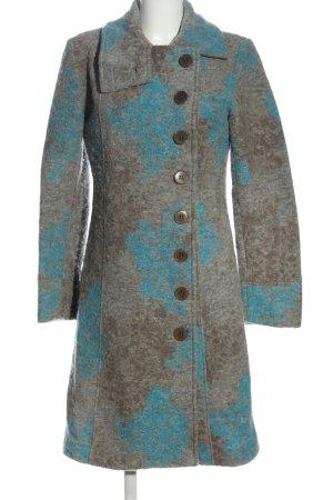 Lu.st Manteau d'hiver bleu-gris clair gradient de couleur style décontracté