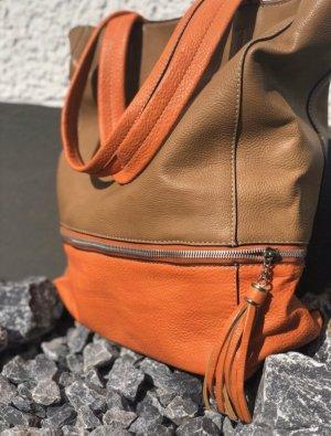 LUA Handtasche Beige Orange