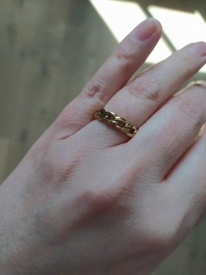 Luamaya Ring Kettendesign Chain Kette Gold Statement