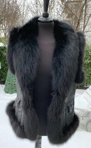 Lubert de Cologne Pelzweste schwarz Fuchs & Lamm 42 XL Vest Fell