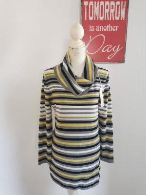 Luc 8 Fashion Damen Rollkragen Pullover Feinstrick gestreift Größe L NEU