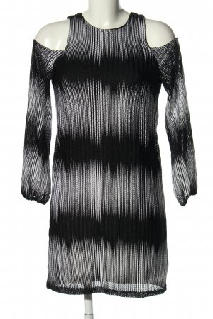LUC&CE Cut-Out-Kleid schwarz-weiß Allover-Druck Casual-Look