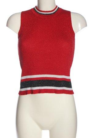 LUC&CE Sweter bez rękawów z cienkiej dzianiny Wzór w paski W stylu casual