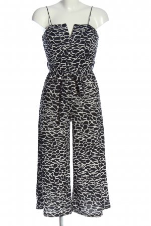 LUC&CE Jumpsuit schwarz-weiß abstraktes Muster Casual-Look