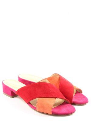 Luca Grossi Sandalo con tacco rosso-arancione chiaro stile casual