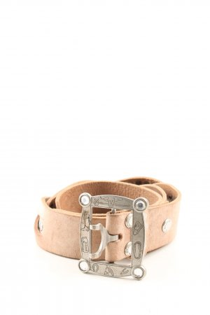Luca Kayz Braided Belt nude casual look
