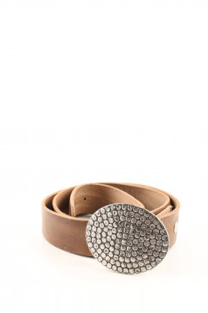 Leather Belt bronze-colored casual look