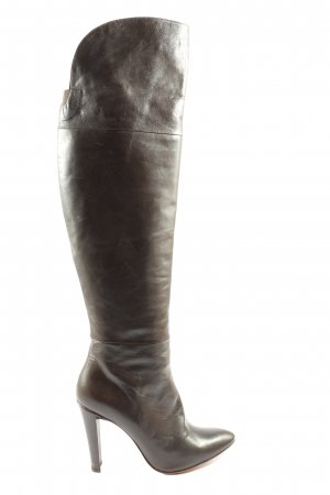 Luca Valentini Wide Calf Boots brown casual look