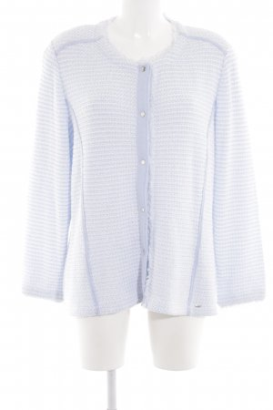 Lucia Cardigan weiß-blau Allover-Druck Business-Look