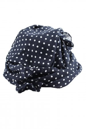 Lucia Shoulder Scarf blue-white spot pattern elegant