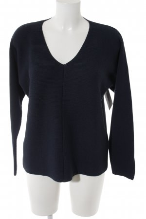 Lucia V-Ausschnitt-Pullover dunkelblau Casual-Look