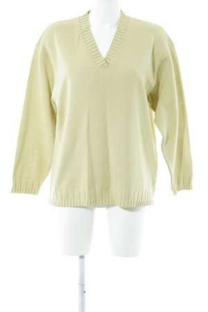 Lucia V-Ausschnitt-Pullover limettengelb Casual-Look