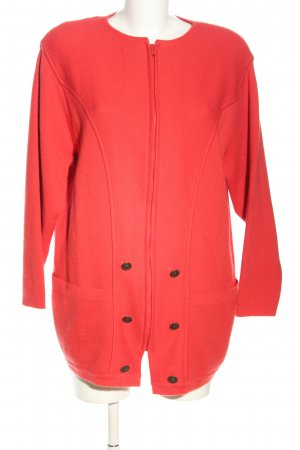 Lucia Wolljacke rot Casual-Look