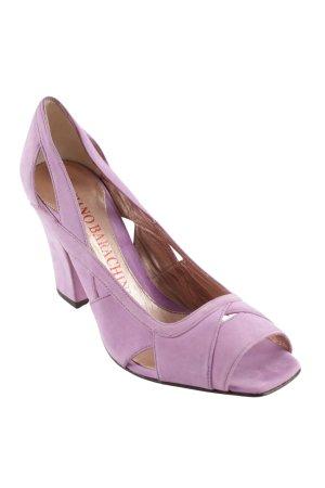 Luciano Barachini High Heel Sandaletten blasslila Elegant