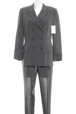 Luciano Barbera Tailleur-pantalon gris brun style d'affaires