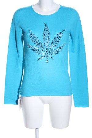 lucien pellat-finet Cashmerepullover blau Casual-Look