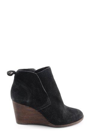 Lucky Brand Keil-Stiefeletten schwarz-braun Casual-Look