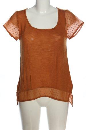 Lucky Brand Camicetta a maniche corte arancione chiaro motivo grafico