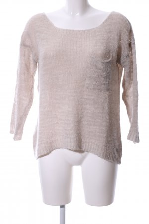 Lucky Brand Rundhalspullover wollweiß Casual-Look