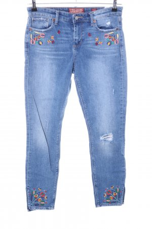 Lucky Brand Skinny Jeans blau Blumenmuster Casual-Look