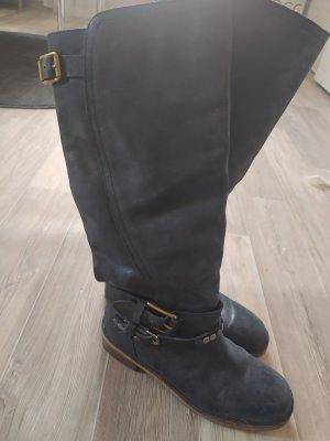 Lucky Brand Stiefel gr 39 blau schwarz , Echtleder