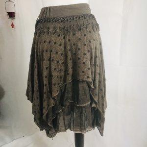 Lucky Moda Made in Italy Damen Rock Neu M/L Braun