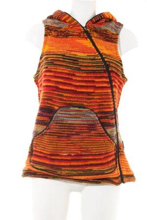 Capuchon vest gestreept patroon casual uitstraling