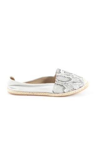 Lucky Shoes Espadrilles-Sandalen hellgrau Animalmuster Casual-Look