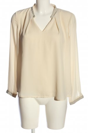 lucy&co Langarm-Bluse creme Business-Look