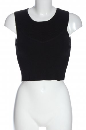 Lucy Paris Cropped Top black casual look