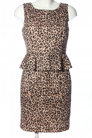 Lucy Paris Vestito peplo marrone-crema Stampa leopardata stile casual