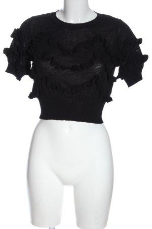 Lucy Paris T-shirts en mailles tricotées noir style décontracté