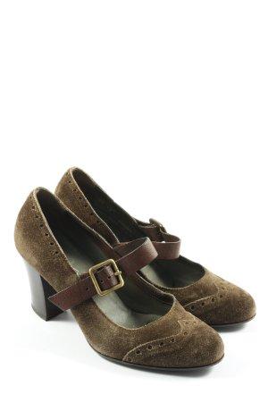 Ludwig Görtz Chaussures Mary Jane brun style décontracté