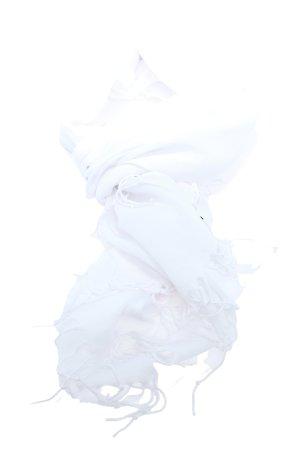 LÜX BASAK Sjaal met franjes wit elegant
