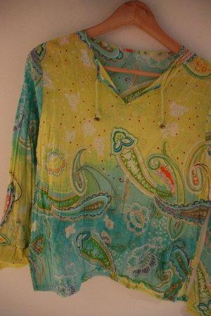 Zijden blouse veelkleurig