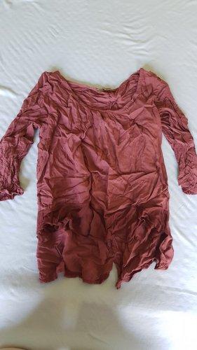 Waterval shirt karmijn Viscose
