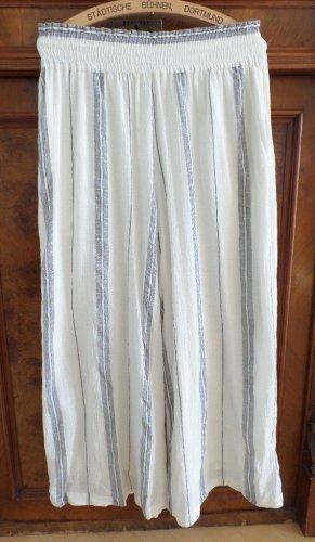 H&M Linen Pants white-cornflower blue cotton